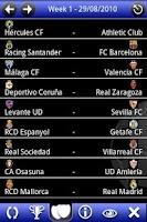 Screenshot of Liga BBVA Pocket 10
