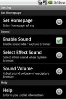 Screenshot of Capture Browser