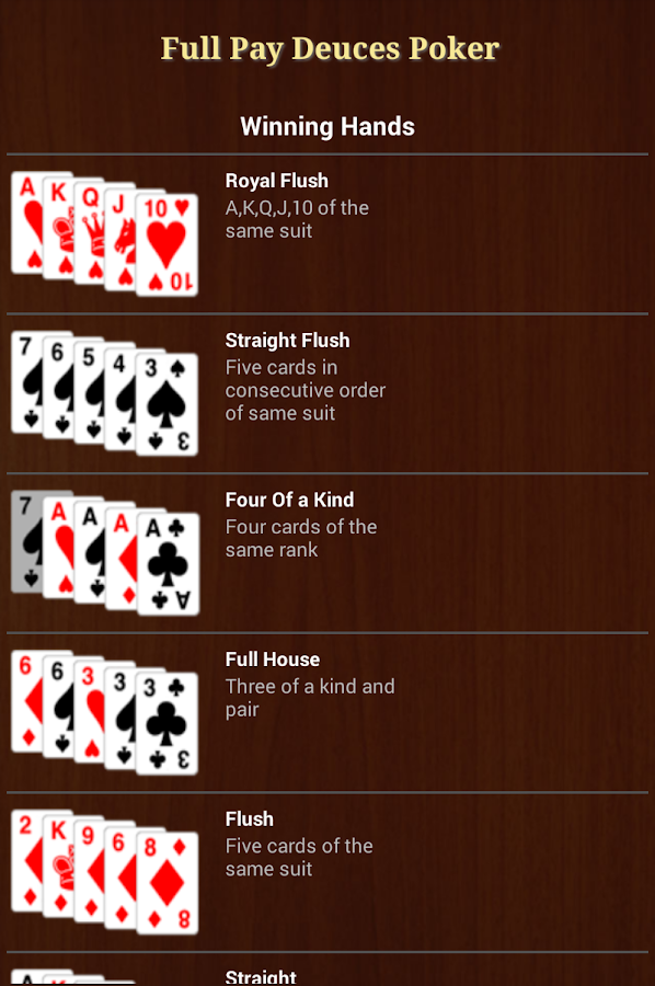Full Pay Deuces Poker - screenshot