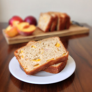 Peach Yogurt Bread with Cinnamon