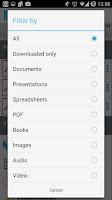 Screenshot of AirWatch Content Locker