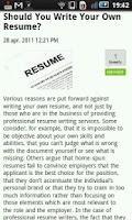 Screenshot of Career & Coaching News