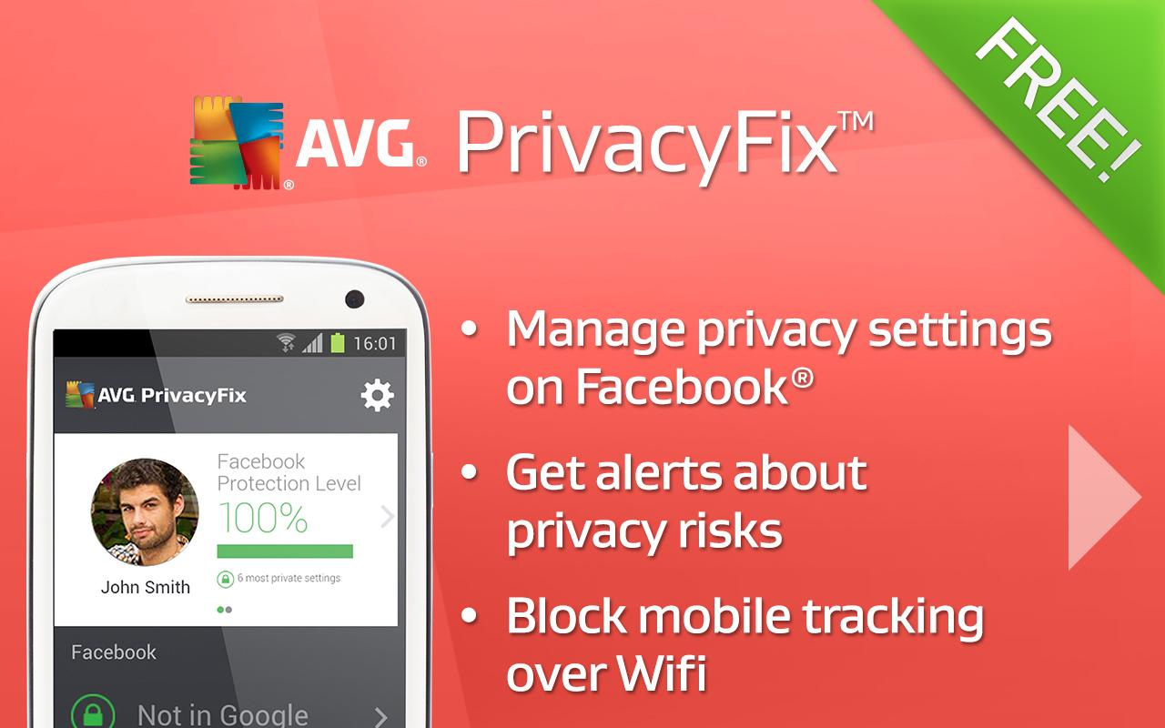 AVG Privacy Fix - screenshot