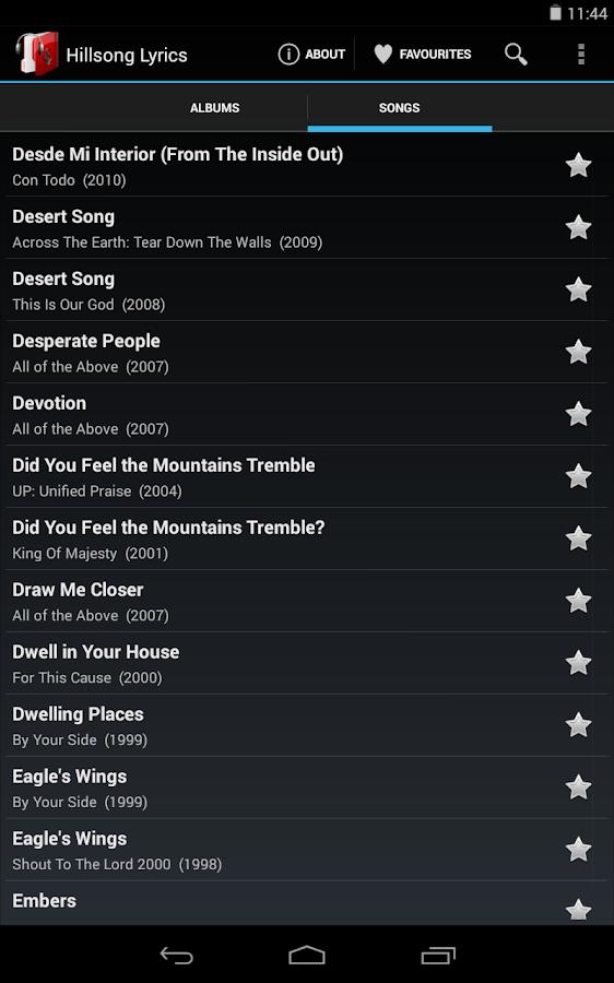 Lyric lyric wake hillsong : Hillsong Lyrics - Android Apps on Google Play