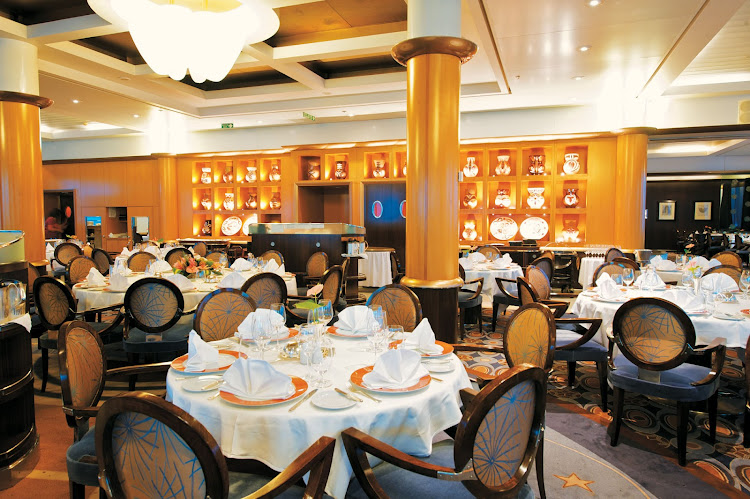L'Etoile offers fine décor, crisp linens and an array of tempting specialties, expertly prepared for guests on the Paul Gauguin.