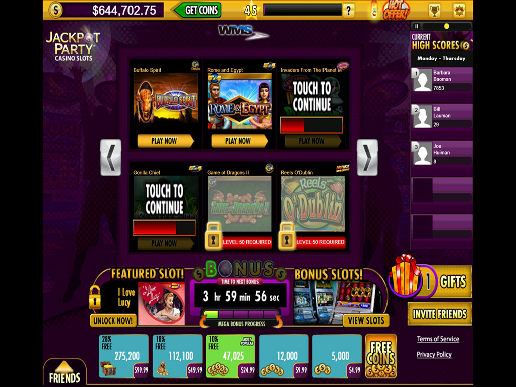 jackpot party casino online generator