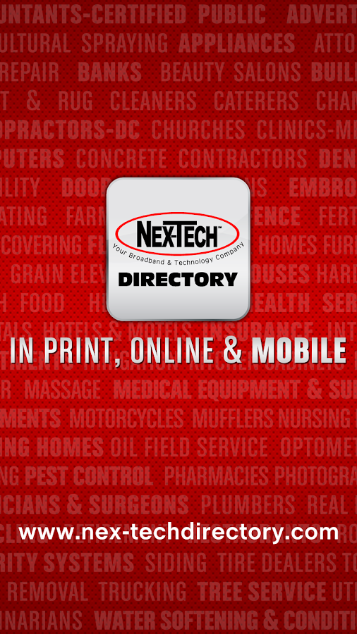 Nex-Tech Directory- screenshot