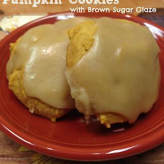 Pumpkin Cookie Recipe with Brown Sugar Glaze