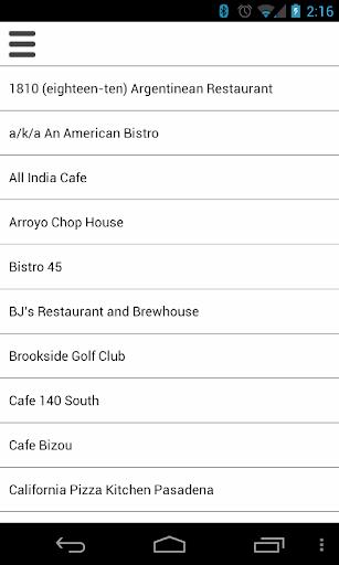 Pasadena Restaurant Week