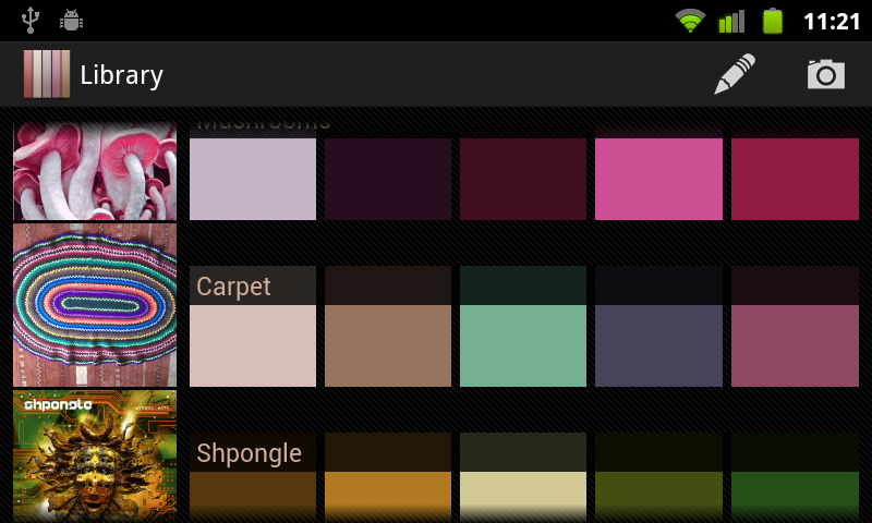 Real Colors, palette generator - screenshot