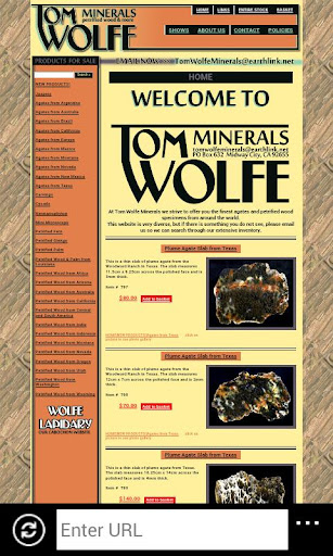 Tom Wolfe Minerals and Wood