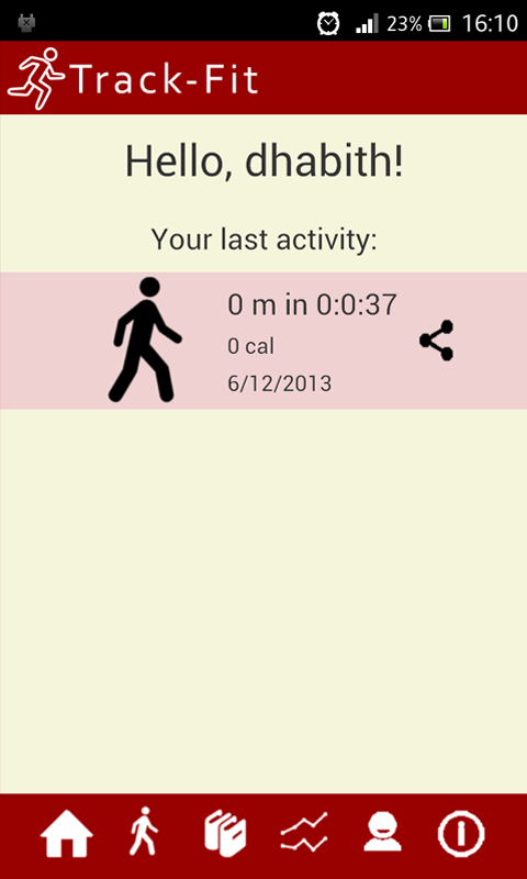 TrackFit - screenshot