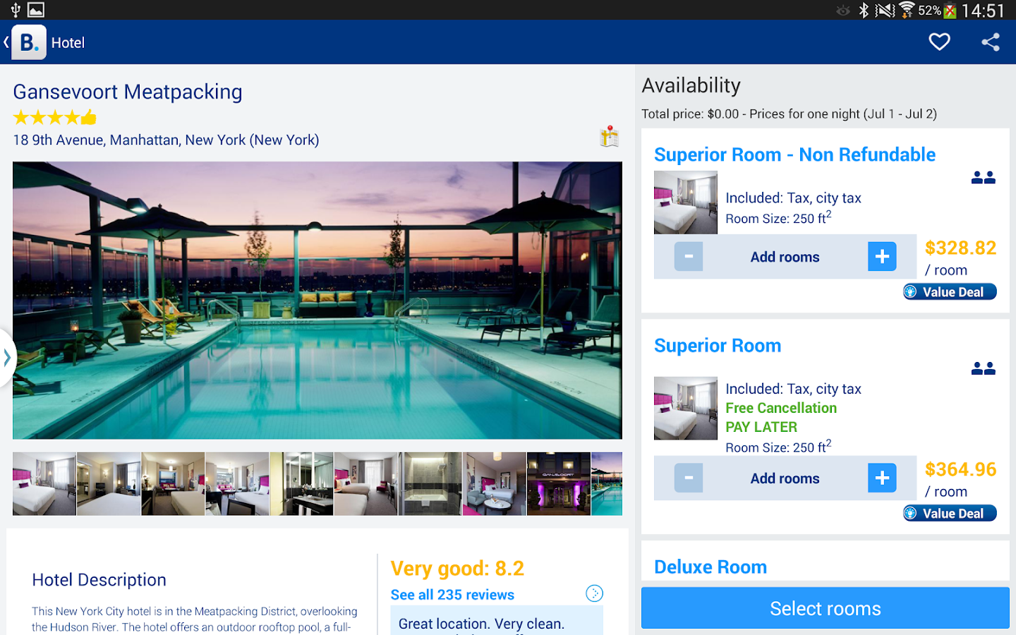 Booking.com Hotel Reservations - screenshot