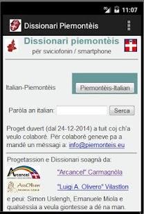 Piedmontese Dictionary - náhled