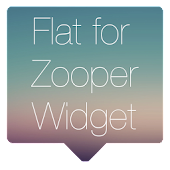 Flat for Zooper Widget