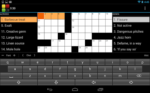 Crossword Puzzle - screenshot thumbnail
