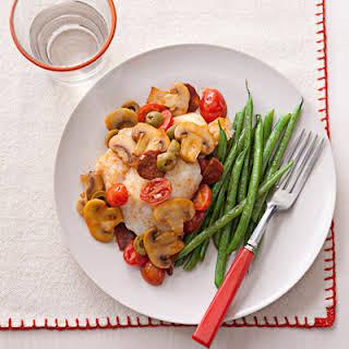 Cod with Spanish Mushroom Relish.