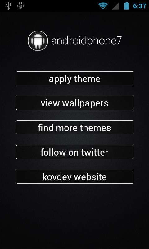 AndroidPhone7 (ADW Theme) - screenshot