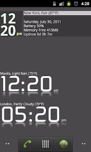 Advanced Clock Widget Pro- screenshot thumbnail