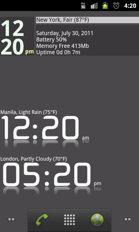 Advanced Clock Widget Pro- screenshot