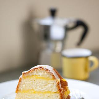 Gluten-Free Layered Lemon Pound Cake with Meyer Lemon Curd.