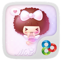 Pink Angel Mocmoc GO Theme icon