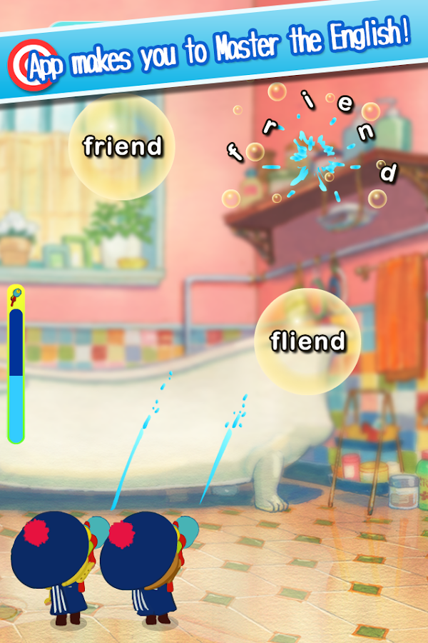 Shoot English by water gun!- screenshot