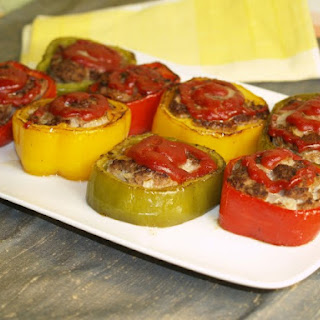 Pan-Fried Meatloaf In Tricolor Peppers