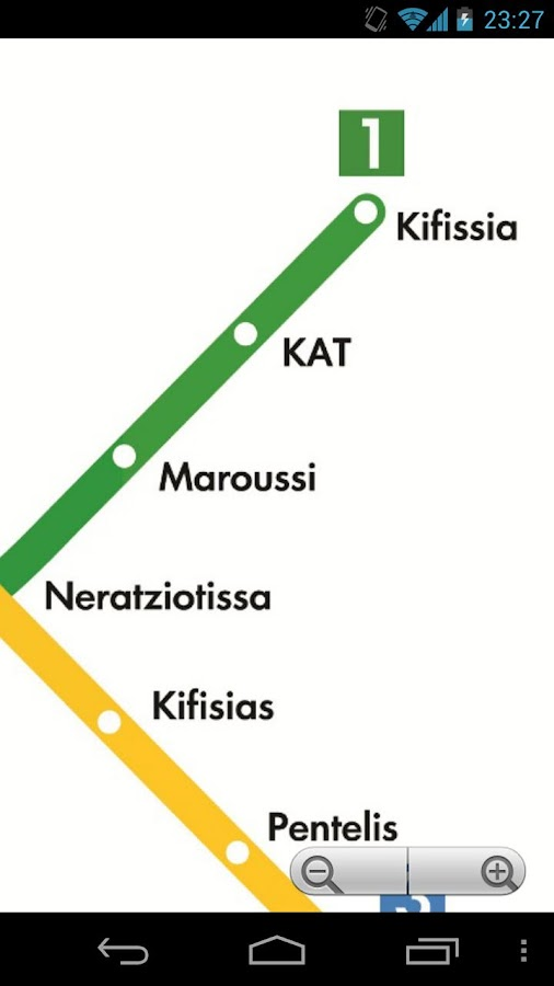 Athens Metro Map Free - screenshot