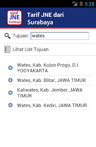 Tarif Ongkir JNE Surabaya