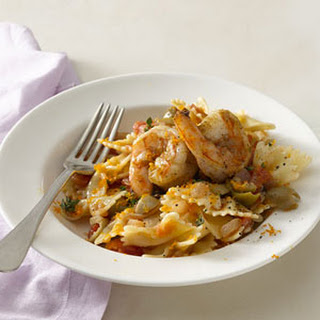 Spanish Shrimp and Farfalle