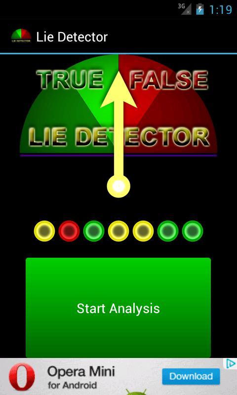 Lie Detector for FUN - screenshot
