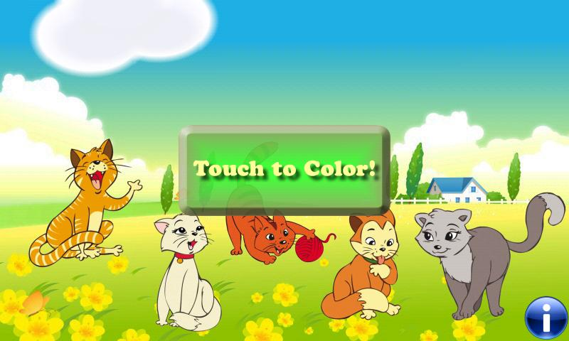 Coloring Book: Cats! - screenshot
