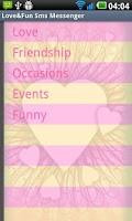 Screenshot of Love&Fun SMS (Lite) Messenger