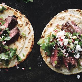 Steak Tacos with Cilantro-Radish Salsa