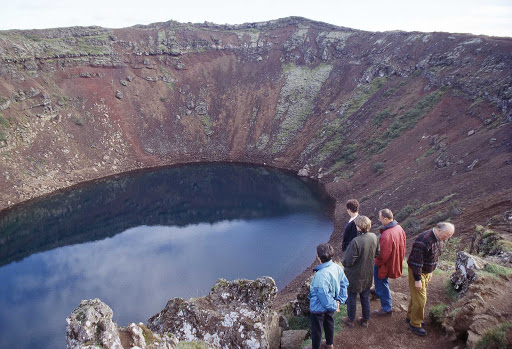 Iceland-Kerid-crater-lake - Kerið (Anglicized as Kerid) crater lake, Iceland.