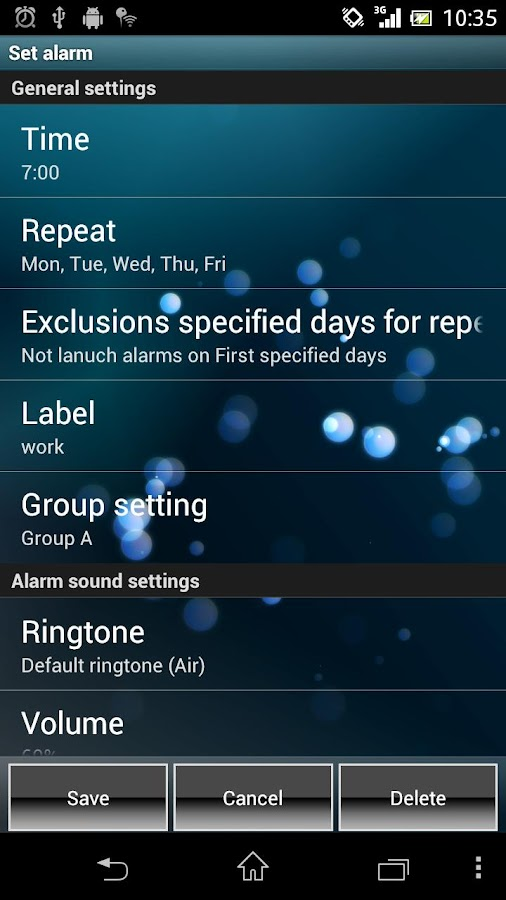 Smart Alarm Free (Alarm Clock) - screenshot