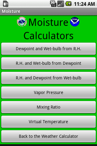 Weather Calculator- screenshot
