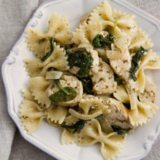 Chicken Florentine Pesto Pasta.