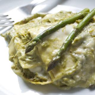 Italian Asparagus Lasagna.
