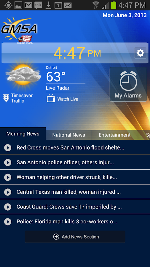 Wake Up with KSAT 12 - screenshot