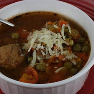 CrockPot Albondigas (Meatball) Soup