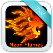 Neon Flames for Keyboard