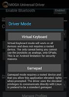 Screenshot of MOGA Universal Driver