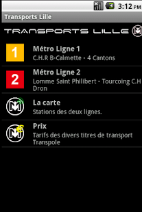 Transports Lille - screenshot thumbnail
