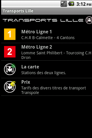 Transports Lille- screenshot