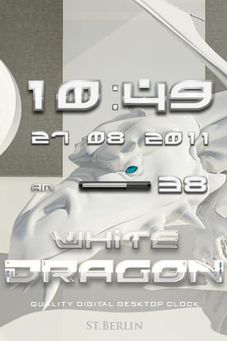 White Dragon Clock Widget