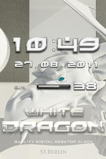 digi clock WHITE DRAGON