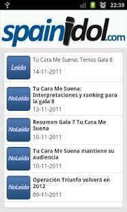 SpainIDOL- screenshot thumbnail