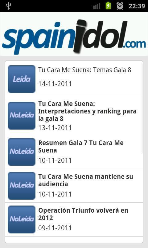 SpainIDOL- screenshot